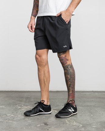 "2 ATG 17"" Short Black V202PRAT RVCA"