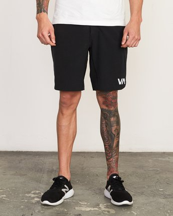 "1 Train 19"" Lined Short Black V202TRTL RVCA"