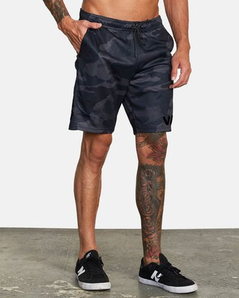 4 VA MESH SHORT Brown V2033RME RVCA