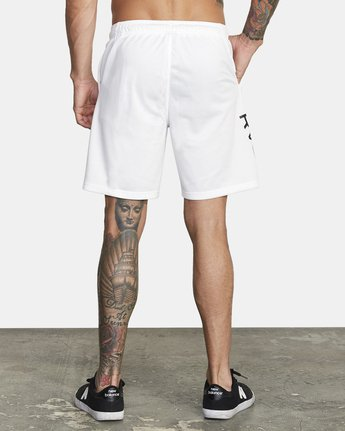 "4 VA MESH 20"" WORKOUT SHORT White V2033RME RVCA"