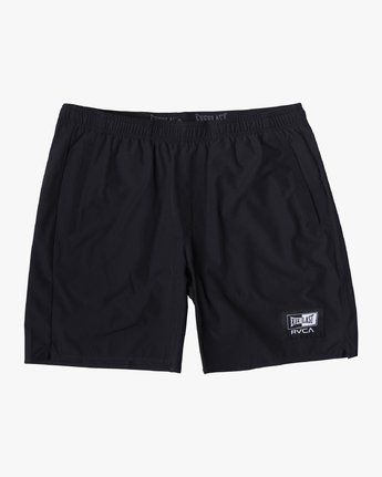 "2 EVERLAST YOGGER IV ATHLETIC SHORTS 17"" Black V2091REY RVCA"