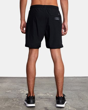 "10 EVERLAST YOGGER IV 17"" WORKOUT SHORT Black V2091REY RVCA"