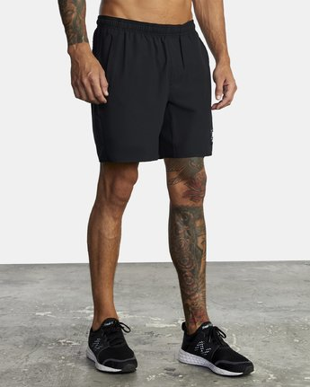 "5 EVERLAST YOGGER IV 17"" WORKOUT SHORT Black V2091REY RVCA"