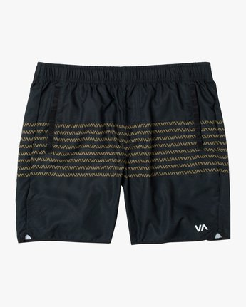 "0 YOGGER IV Recycled 17"" WORKOUT SHORT Black V2091YGR RVCA"