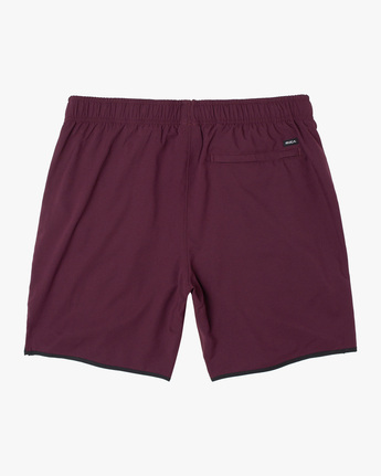 "1 YOGGER IV ATHLETIC SHORTS 17"" Pink V2091YGR RVCA"