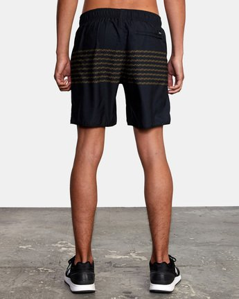 "2 YOGGER IV Recycled 17"" WORKOUT SHORT Black V2091YGR RVCA"