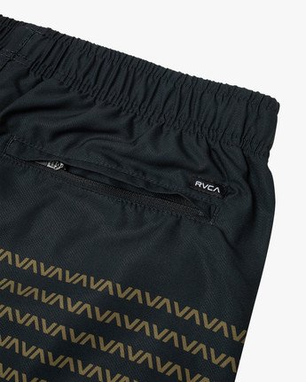 "3 YOGGER IV Recycled 17"" WORKOUT SHORT Black V2091YGR RVCA"