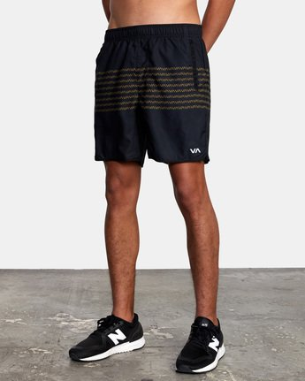 "4 YOGGER IV Recycled 17"" WORKOUT SHORT Black V2091YGR RVCA"