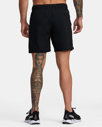 "3 YOGGER IV ATHLETIC SHORTS 17"" Black V2091YGR RVCA"