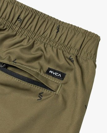 "4 YOGGER IV ATHLETIC SHORTS 17"" Brown V2091YGR RVCA"