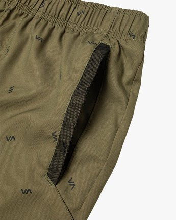 "13 YOGGER IV ATHLETIC SHORTS 17"" Brown V2091YGR RVCA"