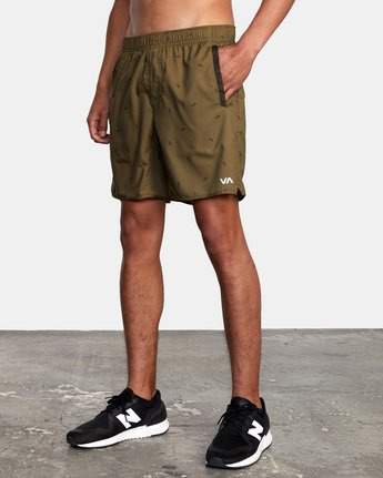 "5 YOGGER IV ATHLETIC SHORTS 17"" Brown V2091YGR RVCA"