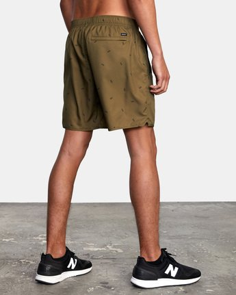 "6 YOGGER IV ATHLETIC SHORTS 17"" Brown V2091YGR RVCA"