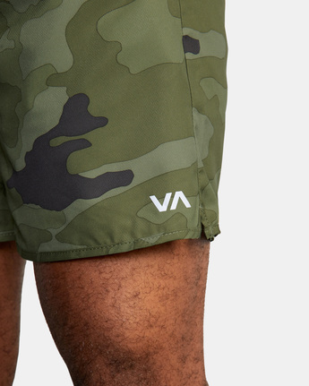 "4 YOGGER IV Recycled 17"" WORKOUT SHORT Green V2091YGR RVCA"
