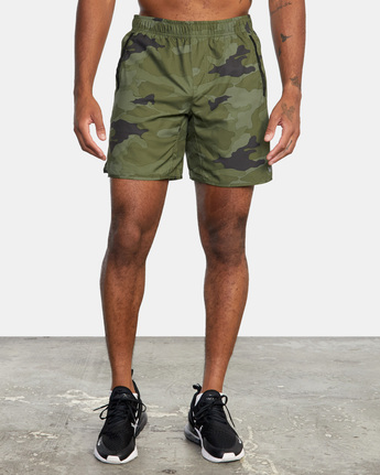 "2 YOGGER IV Recycled 17"" WORKOUT SHORT Green V2091YGR RVCA"