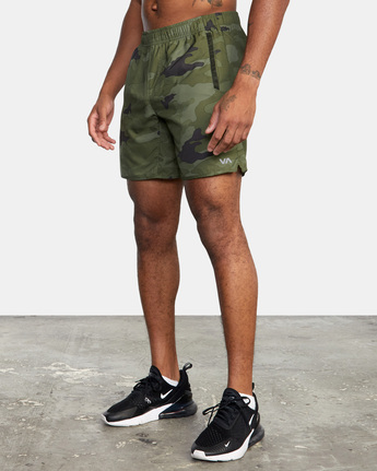 "5 YOGGER IV Recycled 17"" WORKOUT SHORT Green V2091YGR RVCA"