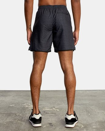 "2 YOGGER IV ATHLETIC SHORTS 17"" Black V2091YGR RVCA"