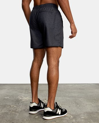 "4 YOGGER IV ATHLETIC SHORTS 17"" Black V2091YGR RVCA"