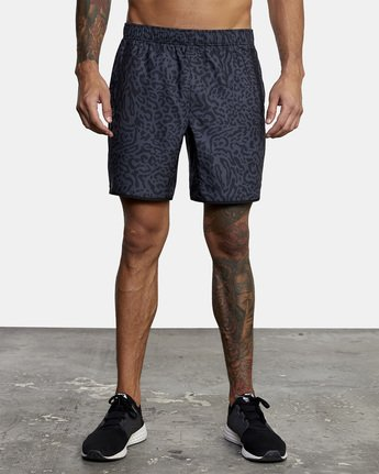 "1 YOGGER IV ATHLETIC SHORTS 17"" Black V2091YGR RVCA"
