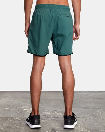 "3 YOGGER IV ATHLETIC SHORTS 17"" Green V2091YGR RVCA"