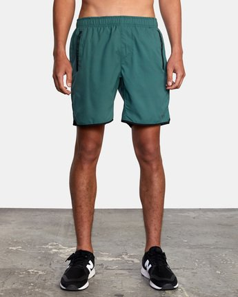 "2 YOGGER IV ATHLETIC SHORTS 17"" Green V2091YGR RVCA"