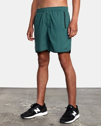 "5 YOGGER IV ATHLETIC SHORTS 17"" Green V2091YGR RVCA"