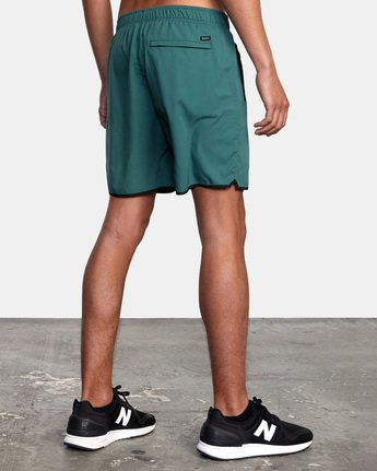 "6 YOGGER IV ATHLETIC SHORTS 17"" Green V2091YGR RVCA"