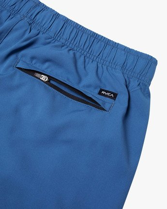 "4 YOGGER IV Recycled 17"" WORKOUT SHORT Blue V2091YGR RVCA"