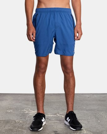 "2 YOGGER IV Recycled 17"" WORKOUT SHORT Blue V2091YGR RVCA"