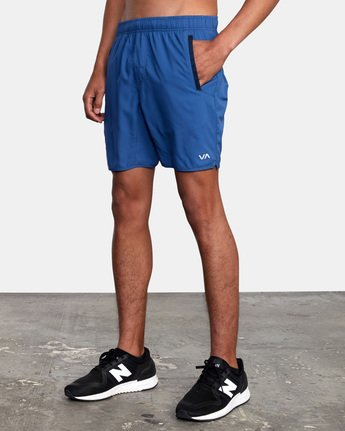 "5 YOGGER IV Recycled 17"" WORKOUT SHORT Blue V2091YGR RVCA"