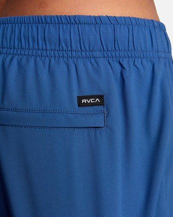 "9 YOGGER IV Recycled 17"" WORKOUT SHORT Blue V2091YGR RVCA"