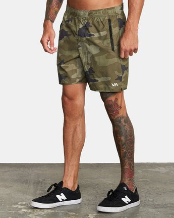 "5 YOGGER IV Recycled 17"" WORKOUT SHORT Grey V2091YGR RVCA"