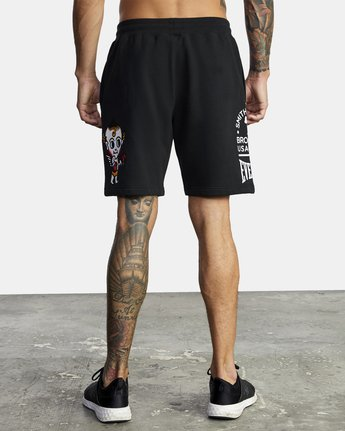9 EVERLAST X SMITH STREET FLEECE WORKOUT SHORT Multicolor V2093RES RVCA