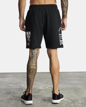 3 EVERLAST X SMITH STREET FLEECE WORKOUT SHORT Multicolor V2093RES RVCA