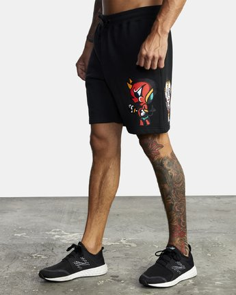4 EVERLAST X SMITH STREET FLEECE WORKOUT SHORT Multicolor V2093RES RVCA