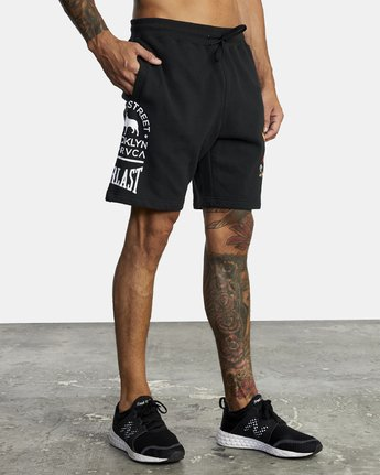 7 EVERLAST X SMITH STREET FLEECE WORKOUT SHORT Multicolor V2093RES RVCA