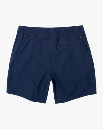 "1 YOGGER 17"" STRETCH WORKOUT SHORT Blue V2103RYS RVCA"