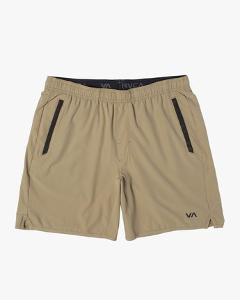 "0 YOGGER 17"" STRETCH SHORT Brown V2103RYS RVCA"