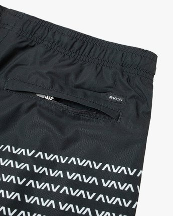 "5 YOGGER STRETCH ATHLETIC SHORTS 17"" Black V2103RYS RVCA"