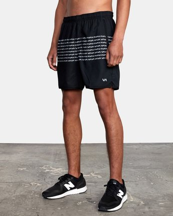 "6 YOGGER STRETCH ATHLETIC SHORTS 17"" Black V2103RYS RVCA"