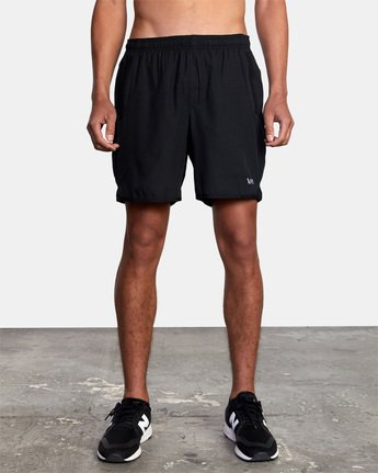 "9 YOGGER STRETCH ATHLETIC SHORTS 17"" Black V2103RYS RVCA"