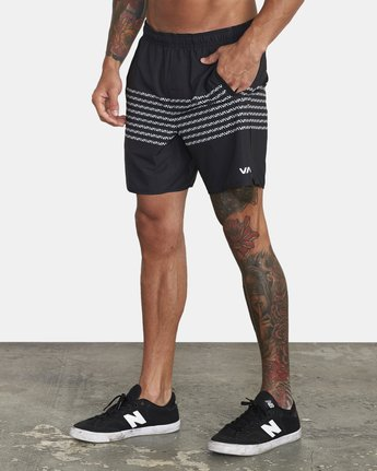 "2 YOGGER 17"" STRETCH SHORT Black V2103RYS RVCA"