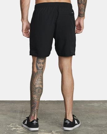 "4 YOGGER 17"" STRETCH WORKOUT SHORT Black V2103RYS RVCA"