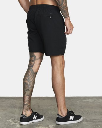 "5 YOGGER 17"" STRETCH WORKOUT SHORT Black V2103RYS RVCA"