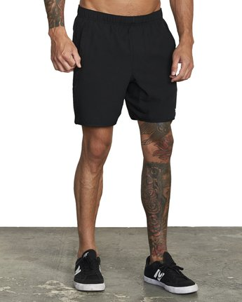 "8 YOGGER STRETCH ATHLETIC SHORTS 17"" Black V2103RYS RVCA"