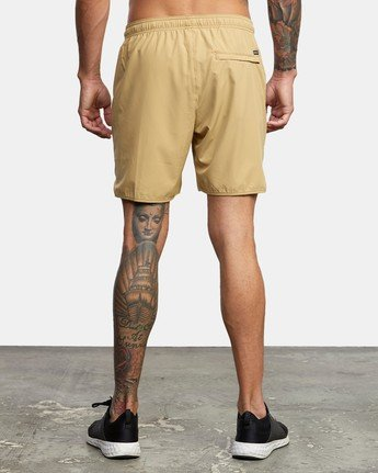 "4 YOGGER 17"" STRETCH SHORT Brown V2103RYS RVCA"