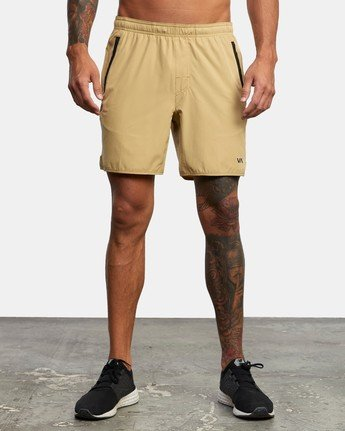 "1 YOGGER 17"" STRETCH SHORT Brown V2103RYS RVCA"