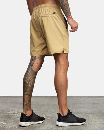 "5 YOGGER 17"" STRETCH SHORT Brown V2103RYS RVCA"