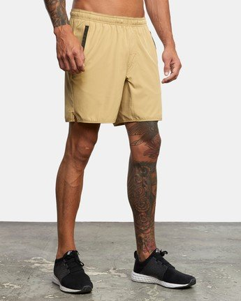 "6 YOGGER 17"" STRETCH SHORT Brown V2103RYS RVCA"