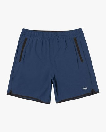 "0 YOGGER LINED ATHLETIC SHORTS 17"" Blue V2113RYL RVCA"